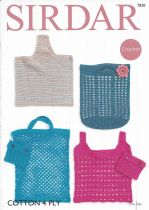 Sirdar Cotton 4ply - 7820 Bags Crochet Pattern
